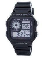 Casio Youth Illuminator World Time Alarm AE-1200WH-1AV AE1200WH-1AV Men's Watch