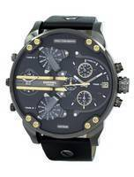 Diesel Mr. Daddy 2.0 Black Dial Black Leather DZ7348 Men's Watch
