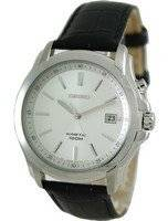 Seiko Kinetic Black Genuine Leather SKA487P2 Mens Watch