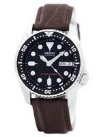 Seiko Automatic Diver's 200M Ratio Brown Leather SKX013K1-LS3 Men's Watch