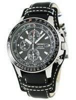 Seiko Pilot's Solar Alarm Chronograph Flightmaster SSC009P2 SSC009P SSC009 Mens Watch