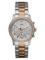 Guess Chronograph Two Tone Rose Gold U0122L1 Women's Watch