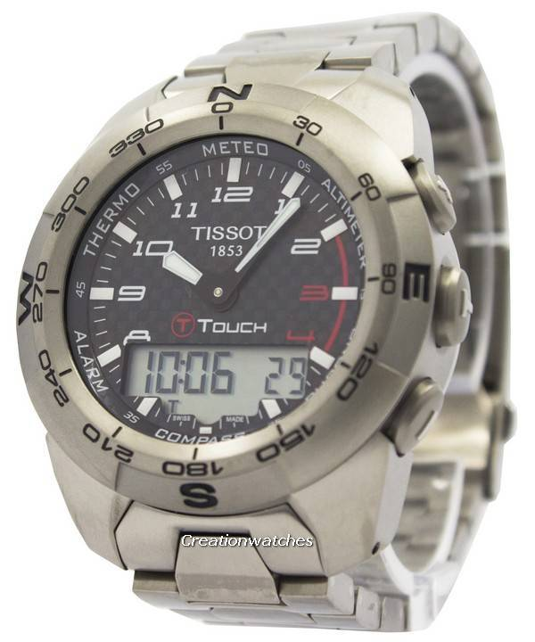 Tissot T Touch Expert Titanium T013.420.44.202.00 T0134204420200 Compass Watch - Click Image to Close