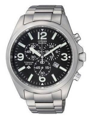 Citizen Eco-Drive Promaster Chronograph Titanium AT0660-64E AT0660 Men's Watch
