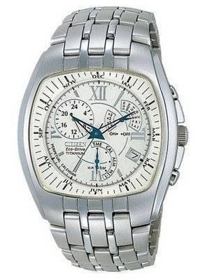 Citizen Titanium Eco-Drive Alarm Chronograph Perpetual Calendar BL8020-57C BL8020 Watch