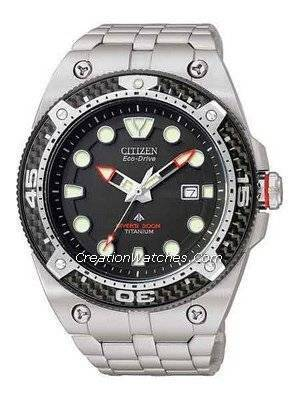 Citizen EcoDrive Promaster Carbon Titanium 300m Watch BN0065-50E