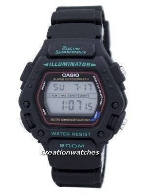 Casio Digital Classic Alarm Chronograph WR200M DW-290-1VS DW-290-1 Men's Watch