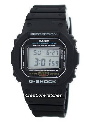 Casio G-Shock Illuminator Alarm Chrono DW-5600E-1V DW5600E-1V Men's Watch