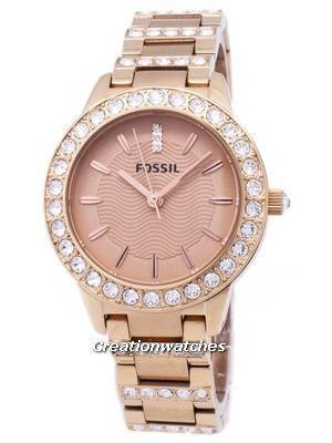 Fossil Jesse Crystal Rose Gold Tone ES3020 Women's Watch