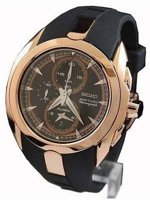 Seiko Men's Watches Arctura Alarm Chronograph Rose Gold SNAD10P1