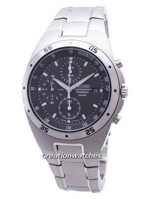 Seiko Titanium Chronograph SND419 SND419P1 SND419P Men's Watch