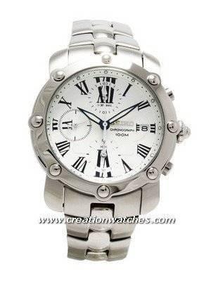 Seiko Mens Marine Sport Chrono White Dial Watch SNDZ97P1 SNDZ97