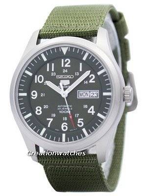 Seiko 5 Military Automatic Sports SNZG09 SNZG09K1 SNZG09K Men's Watch