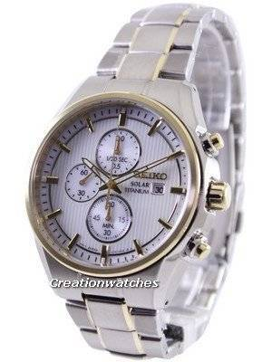 Seiko Solar Titanium Chronograph SSC368 SSC368P1 SSC368P Men's Watch