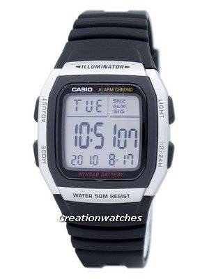 Casio Youth Digital Alarm Chrono Illuminator W-96H-1AVDF W96H-1AVDF Men's Watch