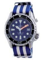 Ratio Free Diver Helium Safe Nylon Automatic Diver's 1066KE20-33VA-BLU-var-NATO2 1000M Men's Watch