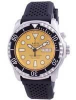 Relação de mergulho livre de hélio seguro de segunda geração automático 1068HA90-34VA-YLW-V02 1000M relógio masculino
