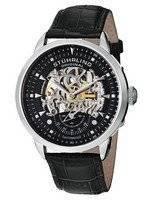 Stuhrling Original Executive Automatic Skeleton Black Leather 133.33151 Men's Watch