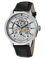 Stuhrling Original Executive Automatic Skeleton Black Leather 133.33152 Men's Watch
