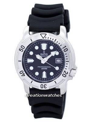 Ratio FreeDiver Professional 200M Sapphire Quartz 22AD202 Men's Watch