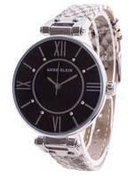 Relógio feminino de quartzo Anne Klein Swarovski com detalhes 3229BKCR