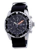 Ratio Free Diver Chronograph Nylon Quartz Diver's 48HA90-17-CHR-BLK-var-NATO4 200M Men's Watch