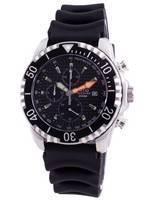 Relogio 200m Diver Quartz Chronograph Sapphire 48HA90-17 + Relógio de homem CHR-BLK