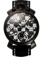 GaGa Milano Black And White Quartz 5012LECH1 Men's Watch