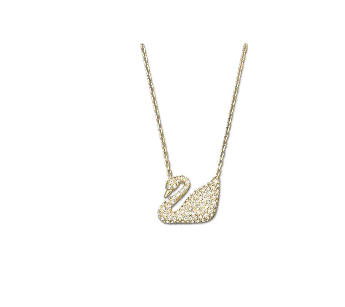 Swarovski 5063921 Crystal Gold Plated Swan Women's Necklace