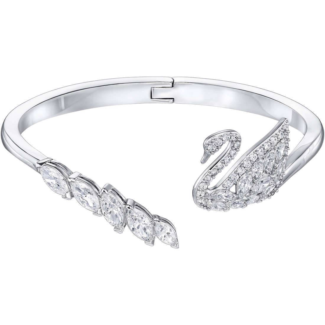 Swarovski 5258396 Swan Lake White Rhodium Plated Women's Bracelet