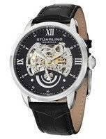 Stuhrling Original Executive II Automatic Black Skeleton Dial 574.02 Men's Watch