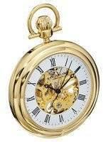 Stuhrling Original Vintage Mechanical Skeleton 23K Gold Plated 6053.33333 Men's Pocket Watch