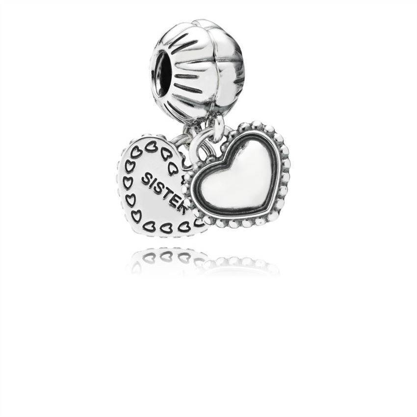 PANDORA 791383 My Special Sister Silver Dangle Charm Women's