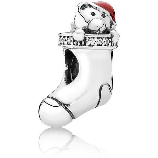 PANDORA 791773CZ Christmas Stocking Charm Women's