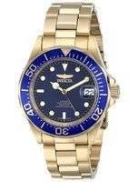 Relógio Invicta Pro Diver 200m Gold Tone Dial azul INV8930/8930 dos homens