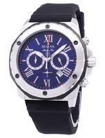 Bulova Marinha Estrela 98B258 Chronograph Quartz Relógio Masculino