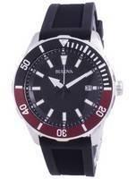 Bulova Quartz Black Dial 98B348 100M Men's Watch