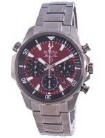 Bulova Marine Star Chronograph Quartz 98B350 100M Men's Watch