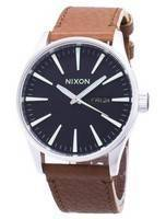 Nixon Quartz Sentry Brown Leather A105-1037-00 Men's Watch