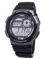 Casio Youth Series Hora Mundial Digital AE-1000W-1BVDF AE-1000W-1BV Relógio Masculino