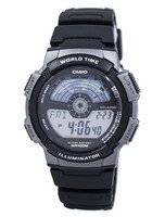 Casio Youth Digital Illuminator World Time AE-1100W-1AV AE1100W-1AV Men's Watch