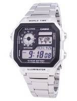 Casio Digital World Time WR100M AE-1200WHD-1AVDF AE-1200WHD-1AV Men's Watch