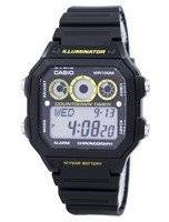 Casio Youth Series Illuminator Chronograph Alarm AE-1300WH-1AV AE1300WH-1AV Men's Watch