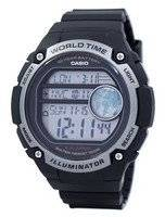 Casio Youth Illuminator World Time Digital AE-3000W-1AV AE3000W-1AV Men's Watch