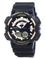 Casio Youth Series Telememo 30 World Time Alarm AEQ-110BW-9AV AEQ110BW-9AV Men's Watch