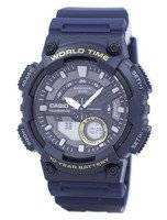 Casio Telememo 30 World Time Alarm Analog Digital AEQ-110W-2AV AEQ110W-2AV Men's Watch