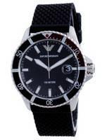 Emporio Armani Black Dial Rubber Quartz AR11341 100M Men's Watch