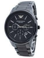 Emporio Armani Ceramica AR1451 Relógio de quartzo com cronógrafo para homem