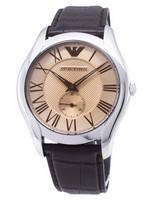 Emporio Armani Classic Amber Dial Brown Leather AR1704 Men's Watch