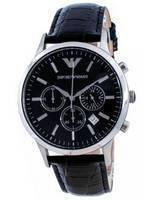 Emporio Armani Renato Classic Chronograph Quartz Black Dial AR2447 Men's Watch
